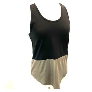 Tops - Workout Tank Top Black & Gold
